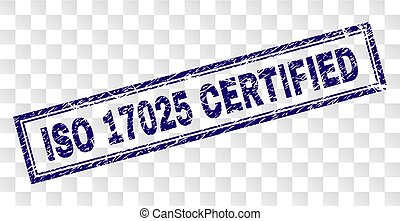 Grunge ISO 17025 CERTIFIED Rectangle Stamp