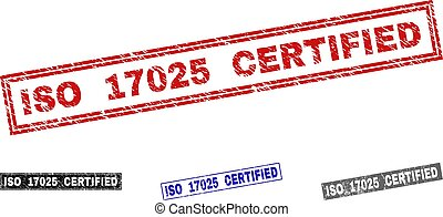 Grunge ISO 17025 CERTIFIED Scratched Rectangle Stamp Seals