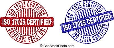 Grunge ISO 17025 CERTIFIED Textured Round Stamp Seals