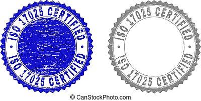 Grunge ISO 17025 CERTIFIED Textured Stamp Seals
