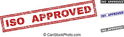 Grunge ISO APPROVED Scratched Rectangle Watermarks