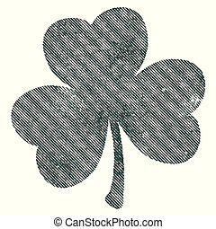 Grunge Isolated Clover