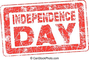 red stamp for 4th July