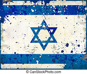 Grunge Israel flag with stains