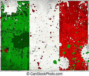 Grunge Italy flag with stains