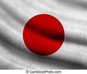 Grunge Japan flag