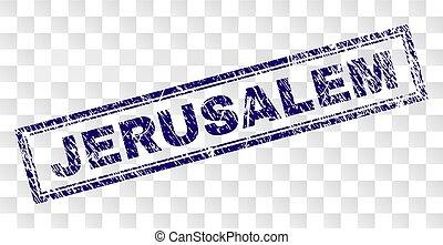Grunge JERUSALEM Rectangle Stamp - JERUSALEM stamp seal...