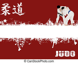 grunge judo poster