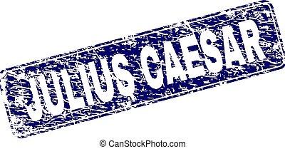 Grunge JULIUS CAESAR Framed Rounded Rectangle Stamp - JULIUS...