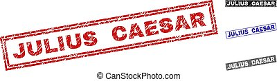 Grunge JULIUS CAESAR Textured Rectangle Watermarks - Grunge...