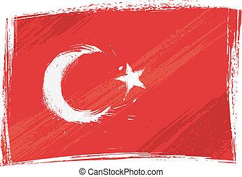 grunge, kalkoen vlag