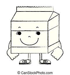 grunge kawaii happy milk box nutrition