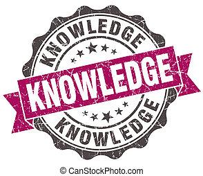 grunge, kennis, viooltje, vrijstaand, zeehondje, witte