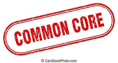 grunge, kern, etiket, stamp., afgerond, teken., algemeen, ...