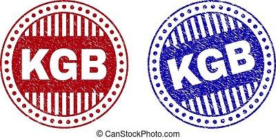Grunge KGB Scratched Round Stamps