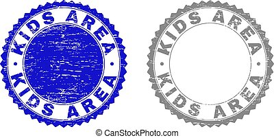 Grunge KIDS AREA Textured Stamp Seals