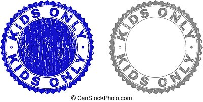 Grunge KIDS ONLY Textured Stamp Seals