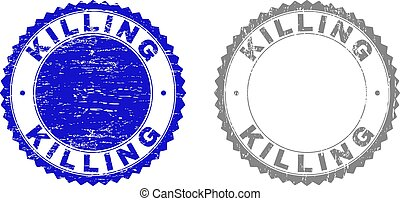 Grunge KILLING Textured Stamps