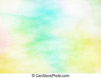 grunge, kleurrijke, watercolor., textuur, achtergrond., zacht