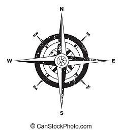 grunge, kompas
