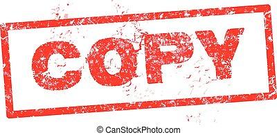grunge, kopia, kauczukowa pieczęć, ilustracja