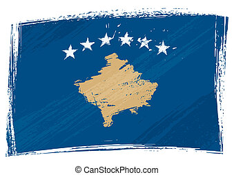 grunge, kosovo, bandeira