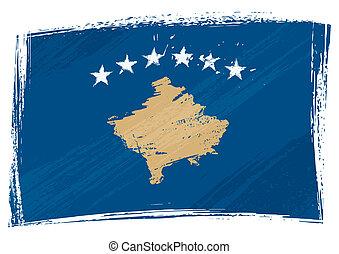 grunge, kosovo, bandiera