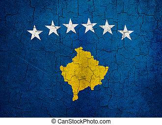 Grunge Kosovo flag