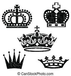 grunge, kronen