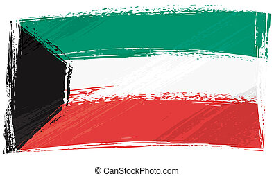 Grunge Kuwait flag - Kuwait national flag created in grunge ...