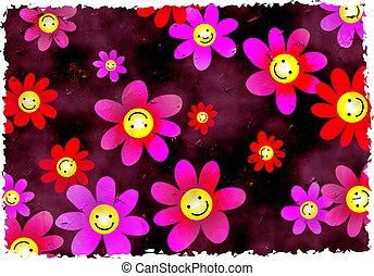 grunge, květiny