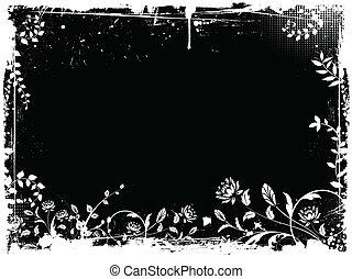 grunge, kwiatowy