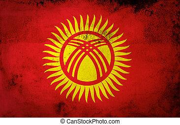 Grunge Kyrgyzstan Flag
