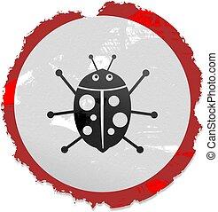 grunge ladybug sign