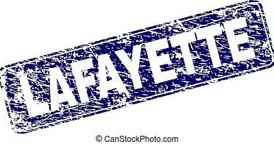 Grunge LAFAYETTE Framed Rounded Rectangle Stamp