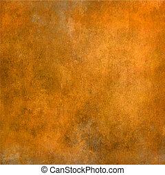 grunge, laranja, amarela, textura, fundo
