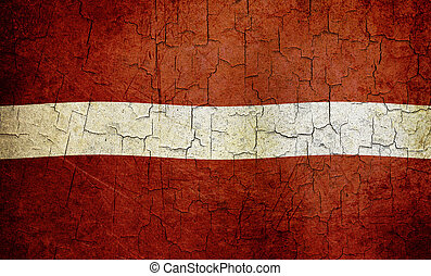 Grunge Latvia flag