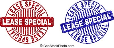 Grunge LEASE SPECIAL Scratched Round Stamp Seals