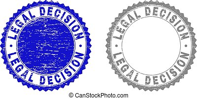 Grunge LEGAL DECISION Scratched Stamp Seals