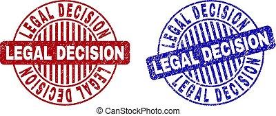 Grunge LEGAL DECISION Textured Round Watermarks