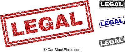 Grunge LEGAL Scratched Rectangle Stamp Seals