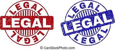 Grunge LEGAL Textured Round Watermarks