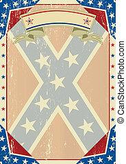 grunge, lettera, confederato
