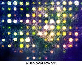 grunge, licht, punkte