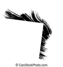 Grunge line frame