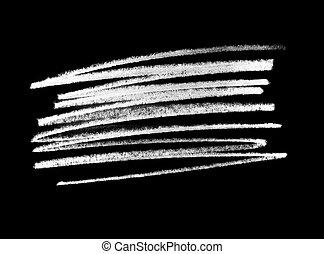 grunge line shape, white chalk