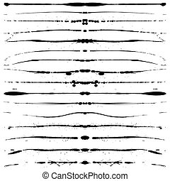 Grunge lines - Set of editable vector grunge lines for ...