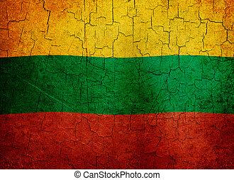 Grunge Lithuania flag
