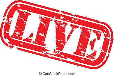 Grunge live stamps, vector illustration