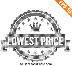 Grunge lowest price guarantee rubber stamp  - Vector illustration - EPS10